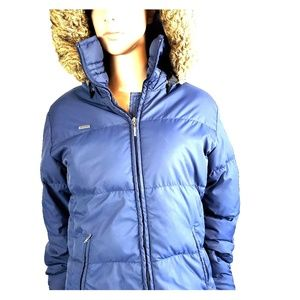 Columbia Blue Down Winter Jacket